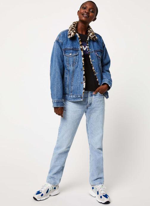 Vêtements Levi's Dad Reverse Fur Trucker Bleu vue bas / vue portée sac