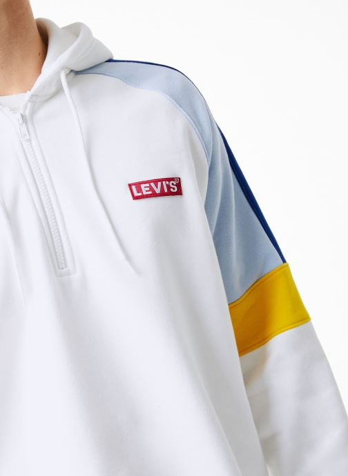 Vêtements Levi's Relaxed Pieced 1/4 Zip M Blanc vue face