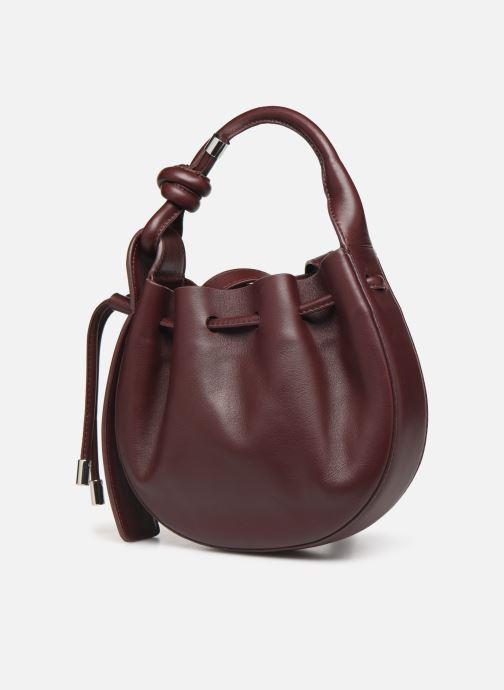 Handtassen Behno Ina Mini Crossbody Nappa Bordeaux model