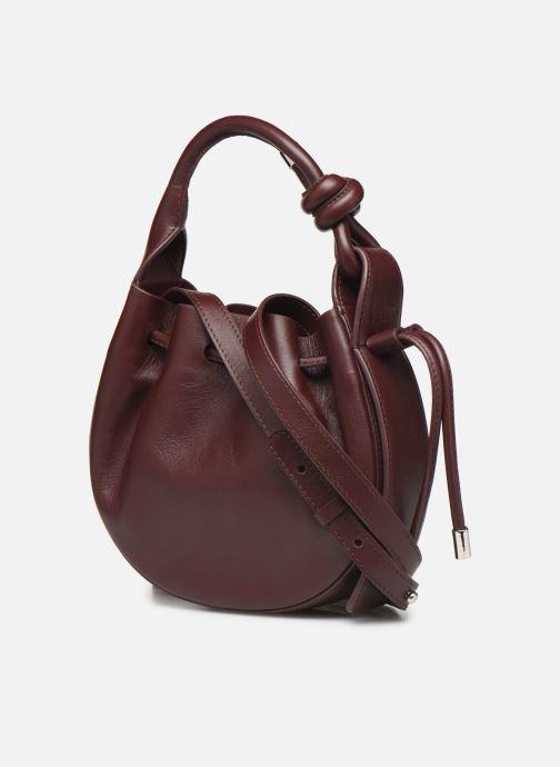Handtassen Behno Ina Mini Crossbody Nappa Bordeaux rechts
