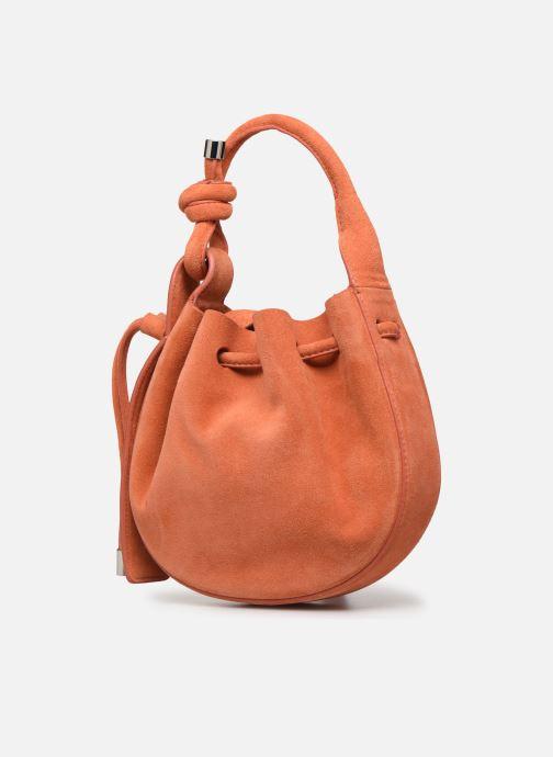 Handtassen Behno Ina Mini Crossbody Suede Oranje model
