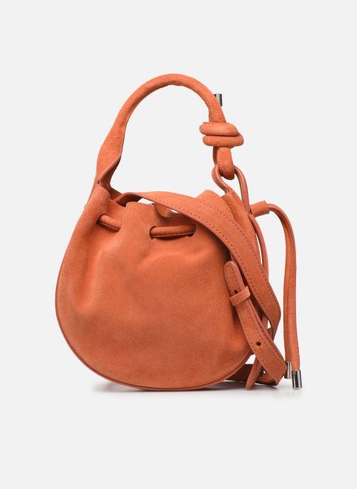 Handtassen Behno Ina Mini Crossbody Suede Oranje voorkant