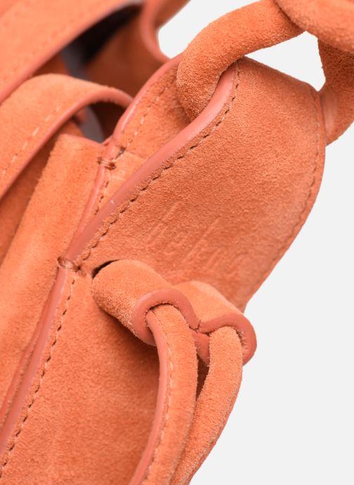 Handtassen Behno Ina Mini Crossbody Suede Oranje achterkant