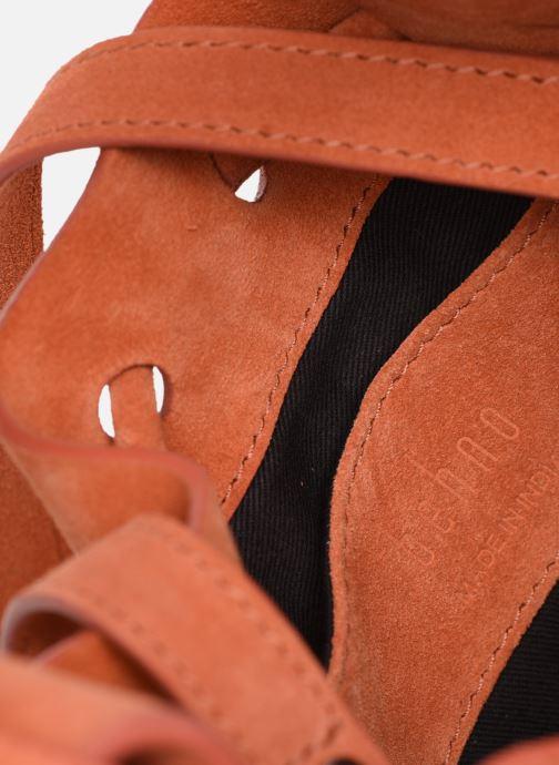 Sacs à main Behno Ina Mini Crossbody Suede Orange vue gauche