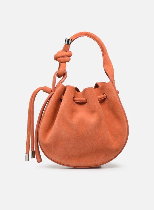Handtassen Behno Ina Mini Crossbody Suede Oranje detail