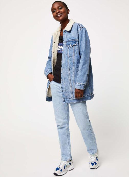 Vêtements Levi's New Lenghen Sher Trucker W Bleu vue bas / vue portée sac