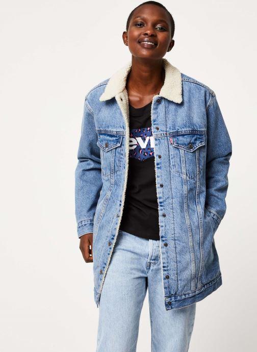 Vêtements Levi's New Lenghen Sher Trucker W Bleu vue détail/paire
