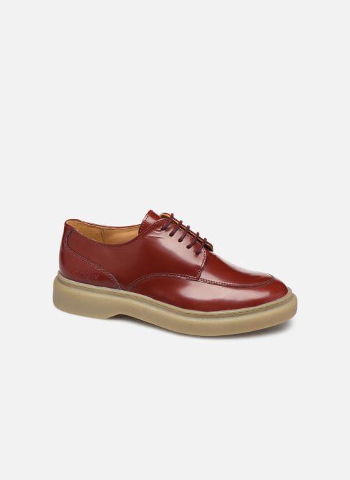 Chaussures à lacets Kickers ORIGAMI Rouge vue détail/paire