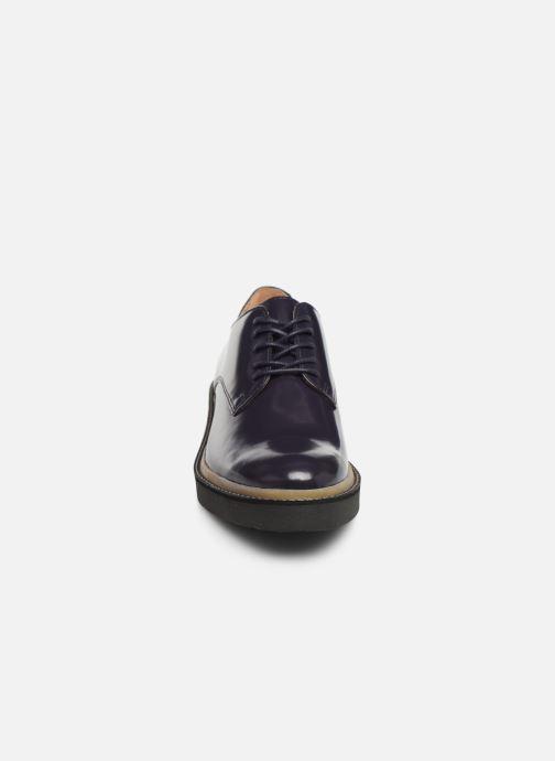 Zapatos con cordones Kickers OXFORK F Azul vista del modelo