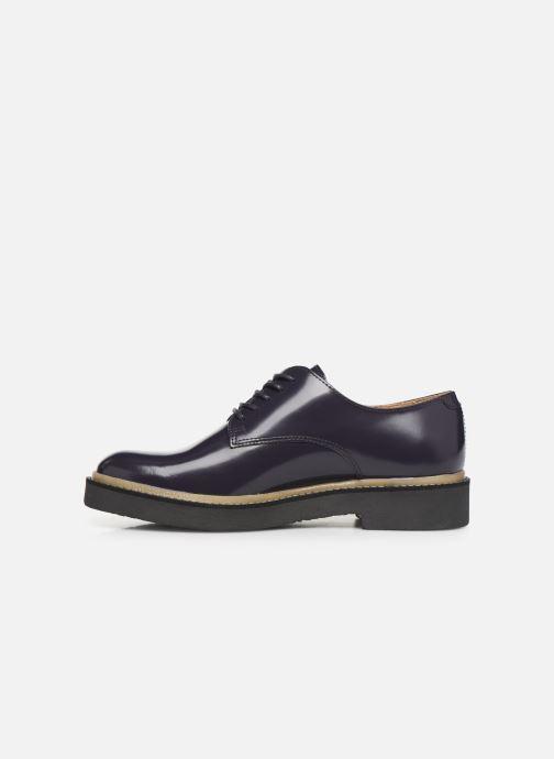 Zapatos con cordones Kickers OXFORK F Azul vista de frente