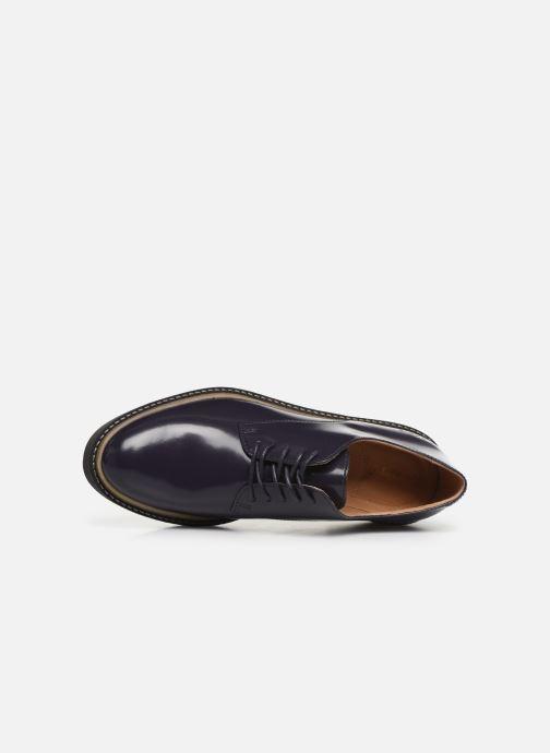 Zapatos con cordones Kickers OXFORK F Azul vista lateral izquierda