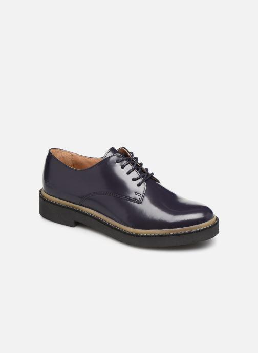 Zapatos con cordones Kickers OXFORK F Azul vista de detalle / par