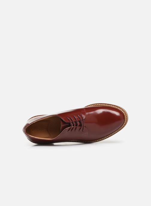 Chaussures à lacets Kickers OXYBY Rouge vue gauche