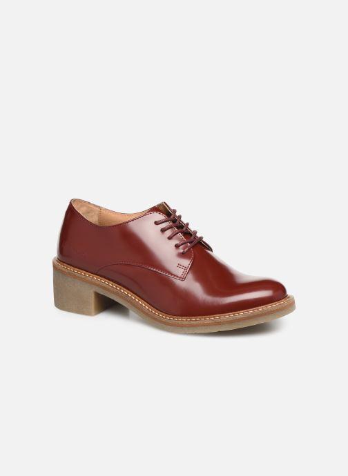 Chaussures à lacets Kickers OXYBY Rouge vue détail/paire