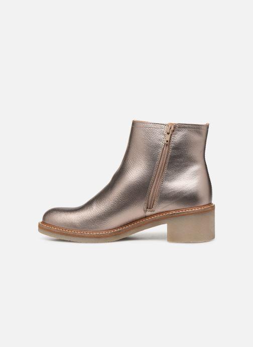 Bottines et boots Kickers OXYMORA Or et bronze vue face
