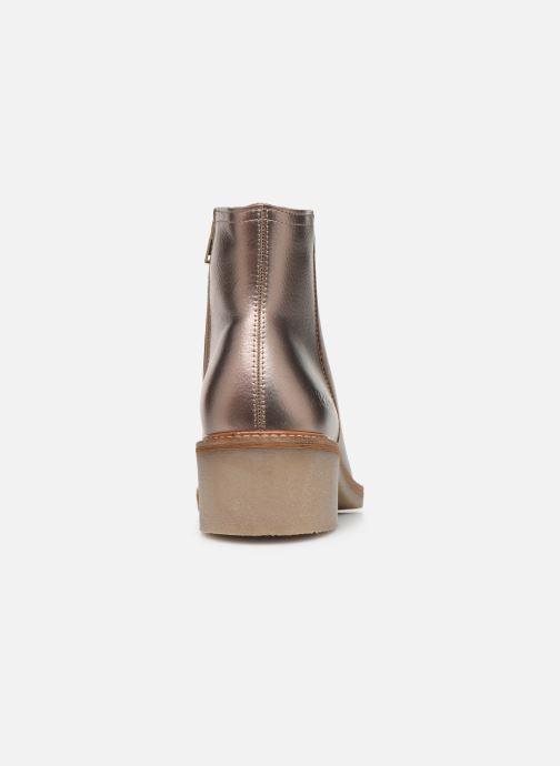 Bottines et boots Kickers OXYMORA Or et bronze vue droite