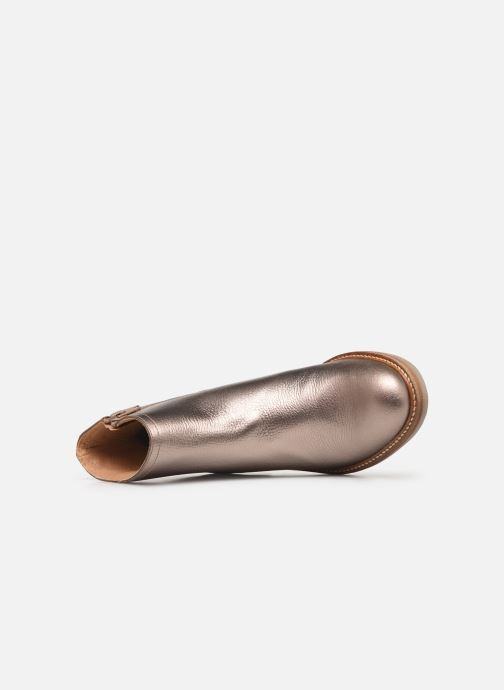 Bottines et boots Kickers OXYMORA Or et bronze vue gauche