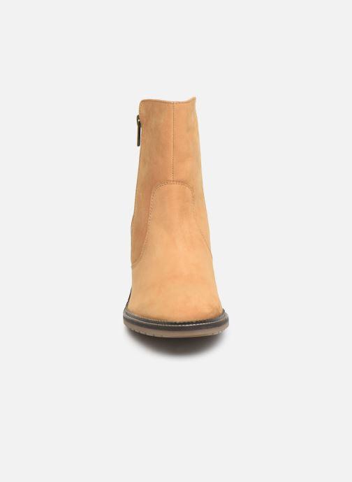 Bottines et boots Kickers PHILEMONA Jaune vue portées chaussures