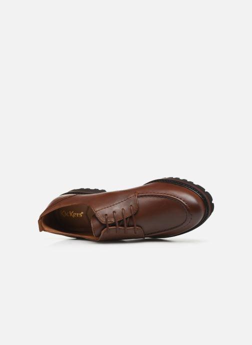 Chaussures à lacets Kickers RUDORA Marron vue gauche