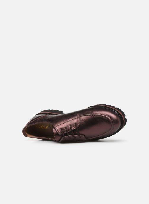 Scarpe con lacci Kickers RUDORA Viola immagine sinistra