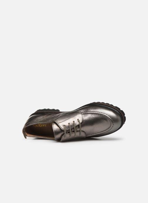 Chaussures à lacets Kickers RUDORA Argent vue gauche