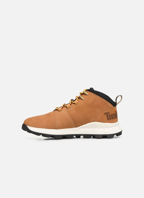 Baskets Timberland Brooklyn City Mid Marron vue face