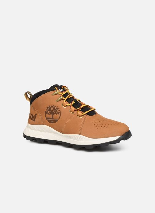 Baskets Timberland Brooklyn City Mid Marron vue détail/paire