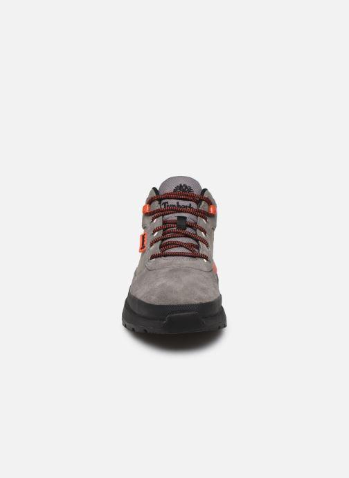 Sneaker Timberland Field Trekker Low grau schuhe getragen