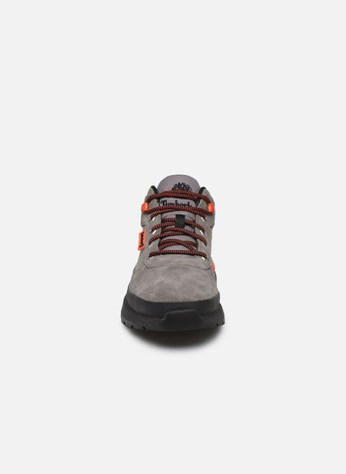 Sneakers Timberland Field Trekker Low Grigio modello indossato