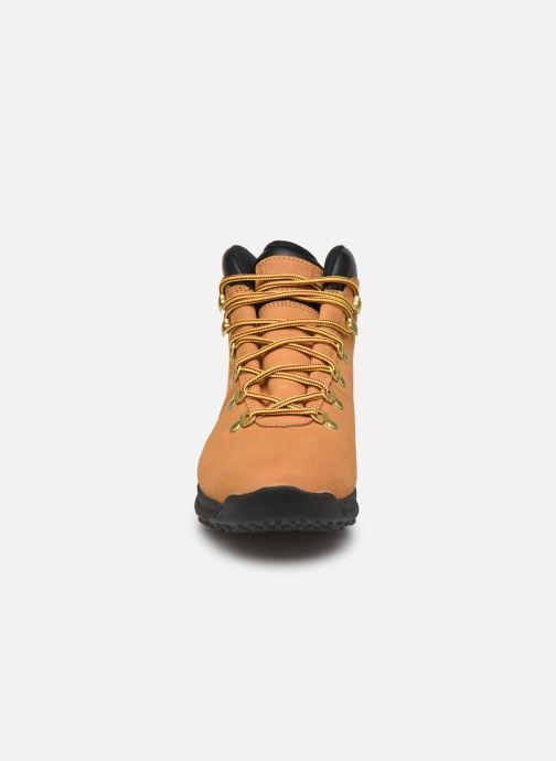 Chaussures de sport Timberland World Hiker Mid H Marron vue portées chaussures