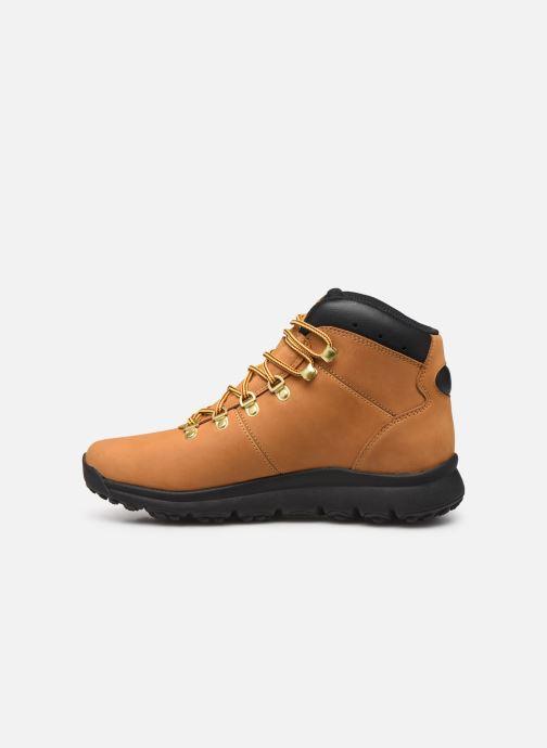 Chaussures de sport Timberland World Hiker Mid H Marron vue face