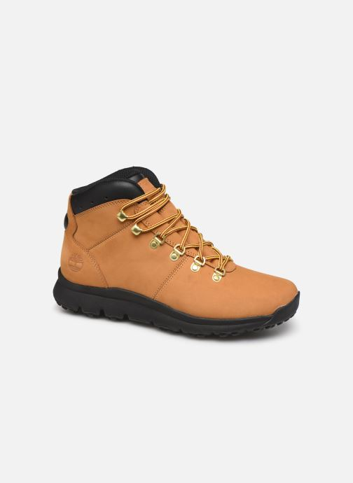 Chaussures de sport Timberland World Hiker Mid H Marron vue détail/paire