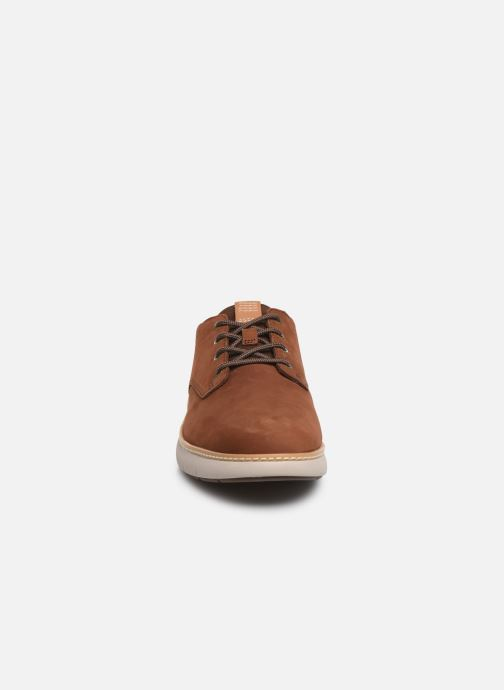 Baskets Timberland Cross Mark PT Oxford Marron vue portées chaussures