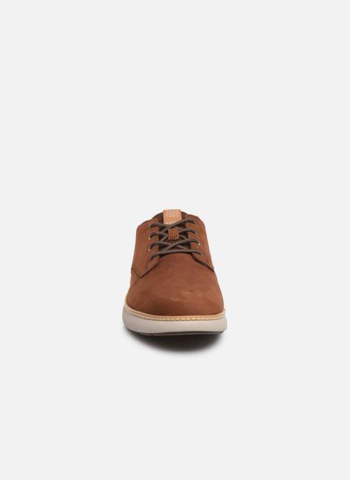 Baskets Timberland Cross Mark PT Oxford Marron vue portées chaussures
