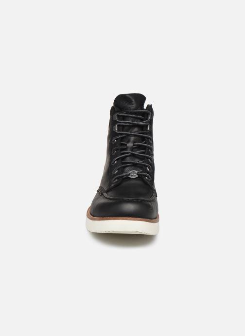 Stiefeletten & Boots Timberland MTCR Moc Toe Boot schwarz schuhe getragen