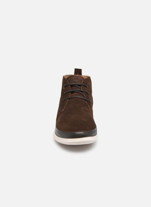 Bottines et boots Kickers LAYTON Marron vue portées chaussures