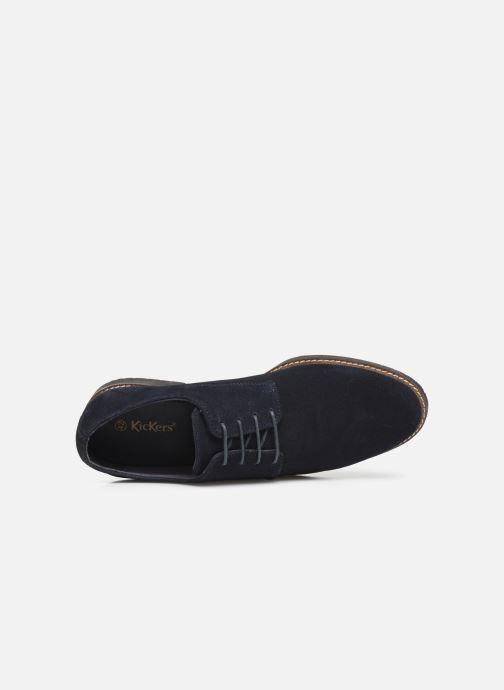 Chaussures à lacets Kickers MALDAN Bleu vue gauche