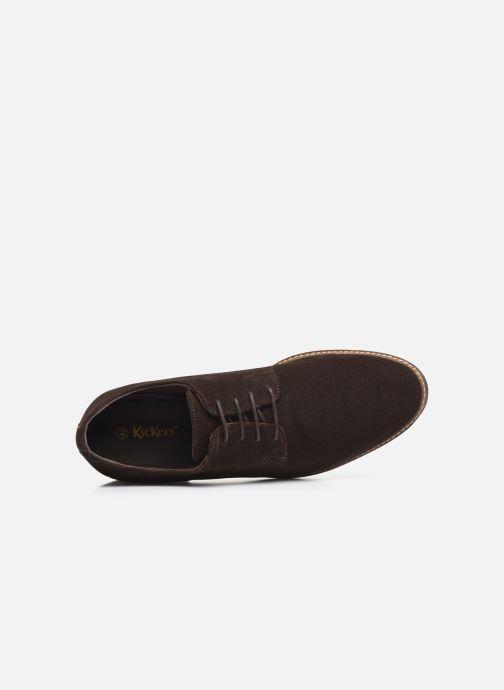 Zapatos con cordones Kickers MALDAN Marrón vista lateral izquierda