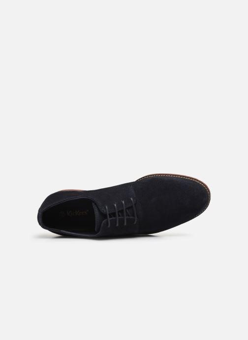 Zapatos con cordones Kickers MALDAN Azul vista lateral izquierda