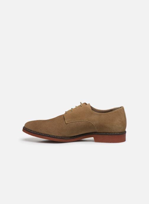Chaussures à lacets Kickers MALDAN Beige vue face