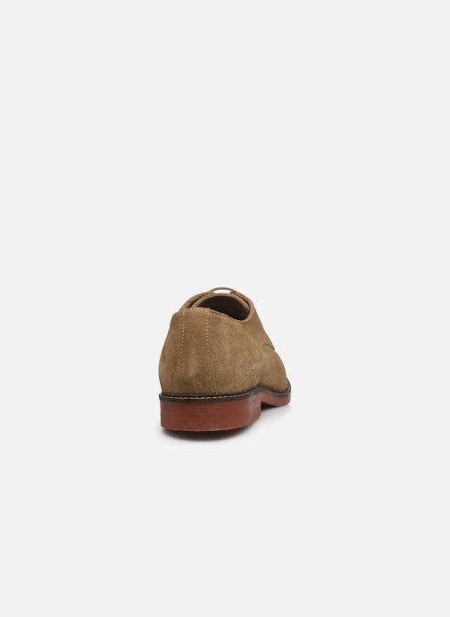 Zapatos con cordones Kickers MALDAN Beige vista lateral derecha