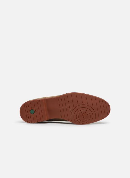 Chaussures à lacets Kickers MALDAN Beige vue haut