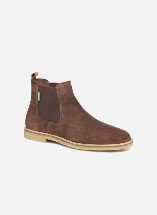Bottines et boots Kickers TYGA H Marron vue détail/paire