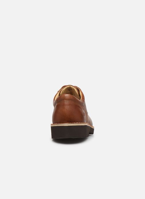 Chaussures à lacets Kickers TRACY H Marron vue droite