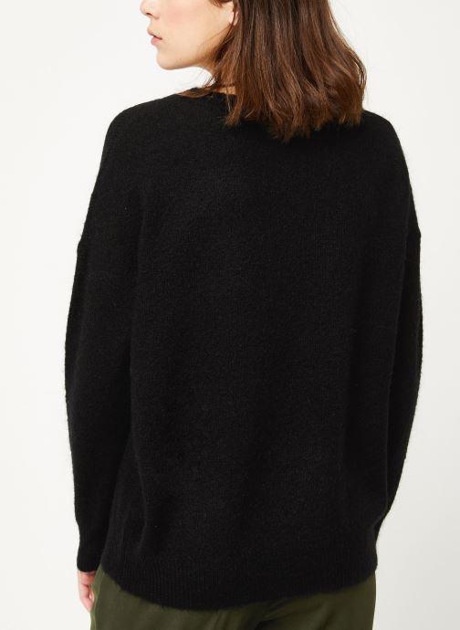 Vêtements MOSS COPENHAGEN Femme Mohair O Pullover Noir vue portées chaussures