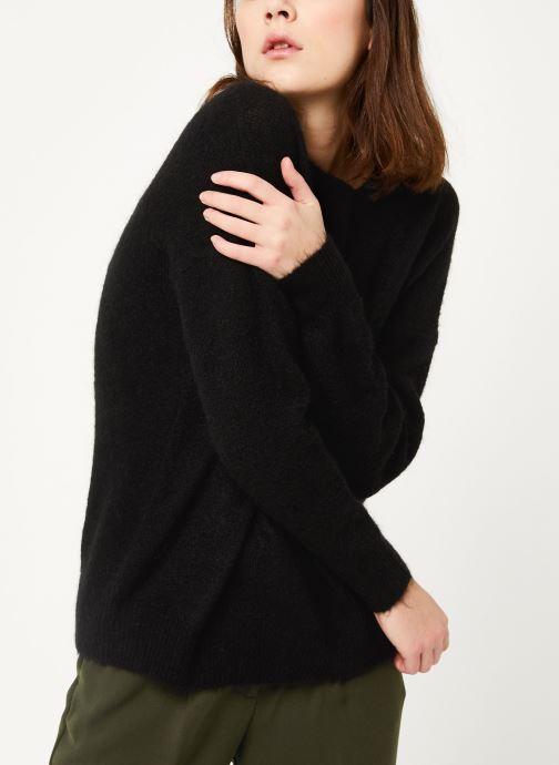Vêtements MOSS COPENHAGEN Femme Mohair O Pullover Noir vue droite