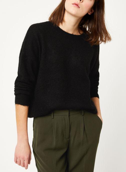 Vêtements MOSS COPENHAGEN Femme Mohair O Pullover Noir vue détail/paire