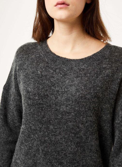 Vêtements MOSS COPENHAGEN Femme Mohair O Pullover Noir vue face