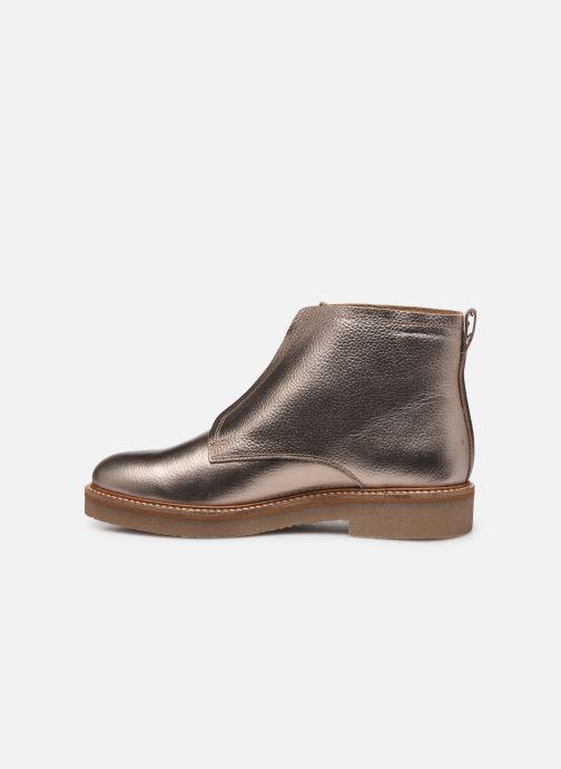 Bottines et boots Kickers OXFORDOZIP Or et bronze vue face