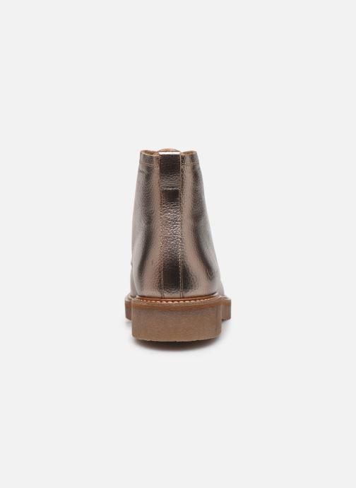 Bottines et boots Kickers OXFORDOZIP Or et bronze vue droite